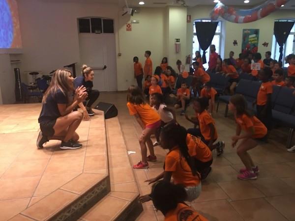 Singing And Dancing At Camp
