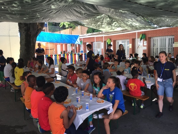 Snack Time At Camp