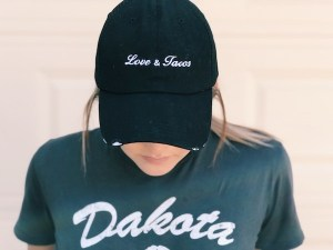 Love And Tacos Black Trucker Hat