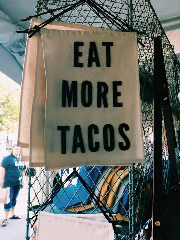 Eat More Tacos Banner At Silobration