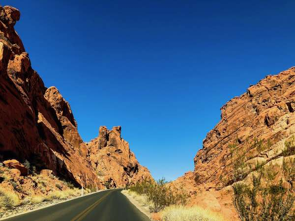 Driving Into The Valley Of Fire