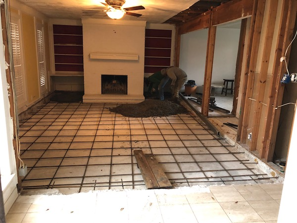 Laying Concrete In Home