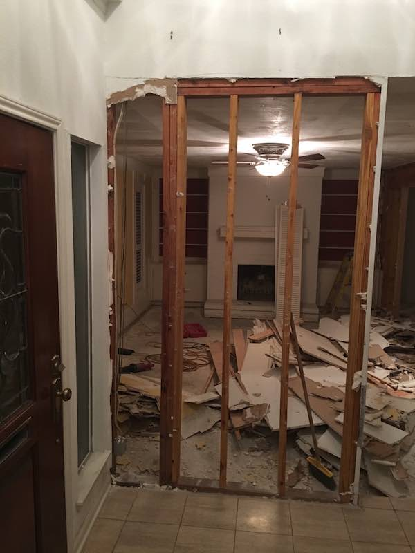 Tearing Down Walls In Living Room