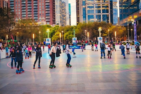 Roller Skating At Discovery Green