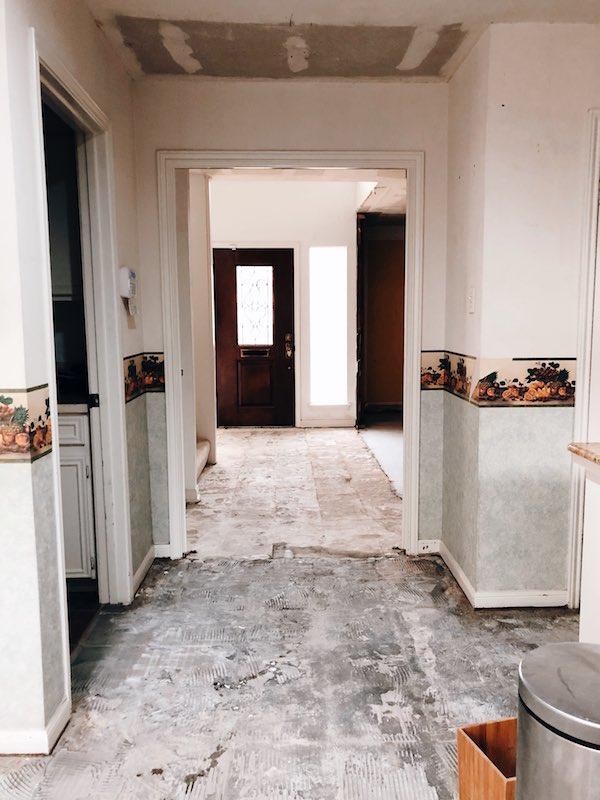 Concrete Floors After Tile Removal