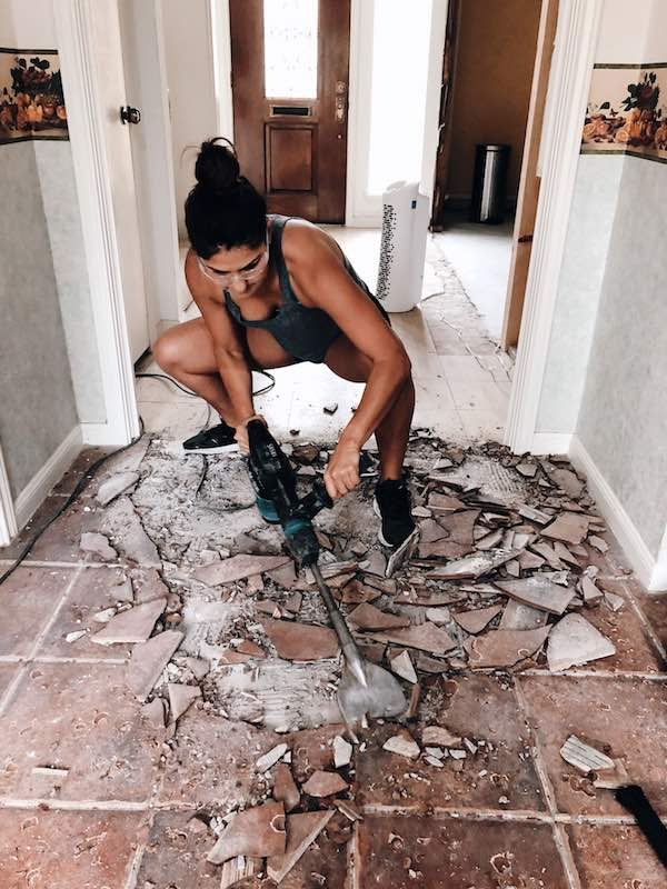 Power Hammering Tile