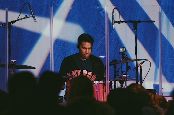 David Playing Drums