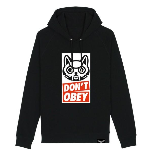 v21 Dont obey – hoodie – black