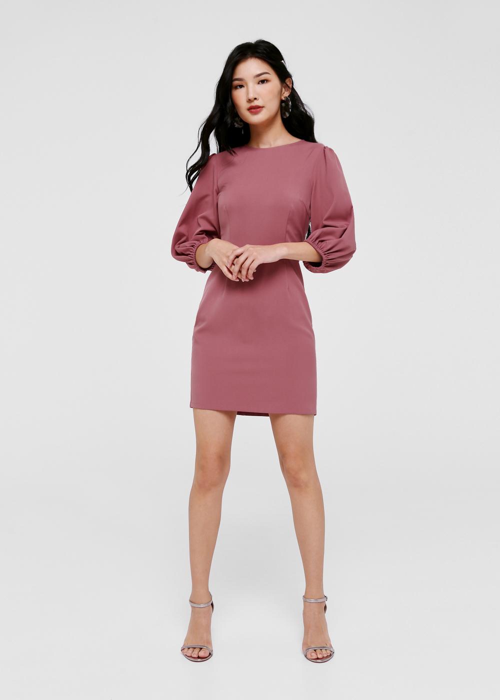 Kayleigh Balloon Sleeve Mini Dress