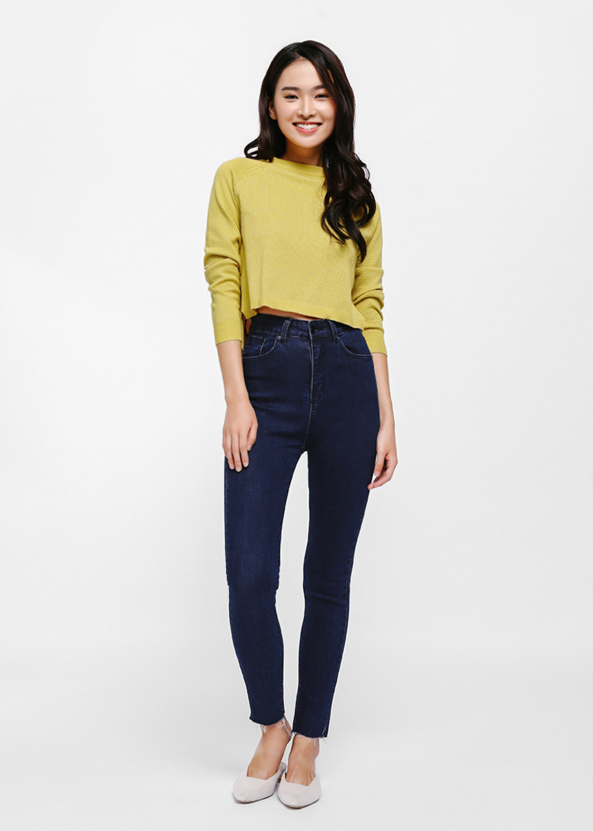 Greta High-rise Skinny Jeans - Dark Blue