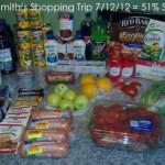 My Smith's Shopping Trip 7/12/12 = 51% Savings