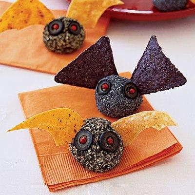 Halloween Bat Bites Cheese Ball Recipe
