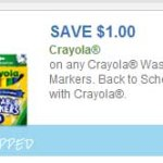 HOT $1/1 Crayola Washable Markers Coupon + Deal