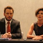 Delivery Man interview with Chris Pratt and Cobie Smulders #deliverymanevent