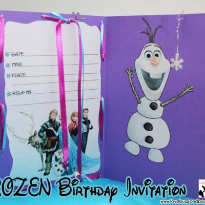 Disney FROZEN Birthday Invitation {with free printables}