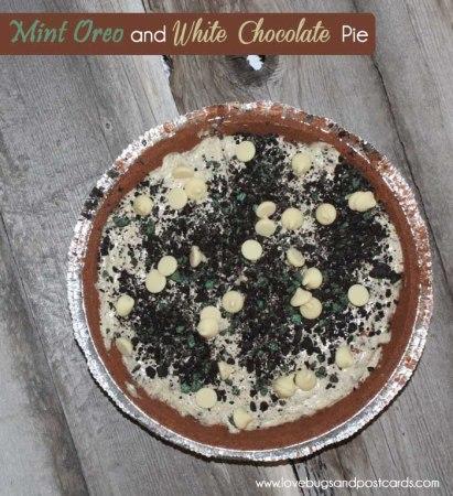 Mint Oreo and White Chocolate Pie