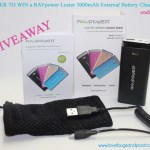 GIVEAWAY: RAVpower Luster 3000mAh External Battery Charger (ends 5/16)