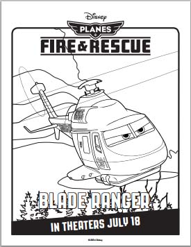 Fire: Planes and Rescue Coloring Pages - Blade Ranger