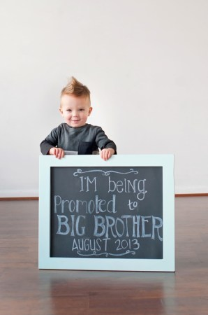 Way to announce pregnancy - promoted To Big Brother