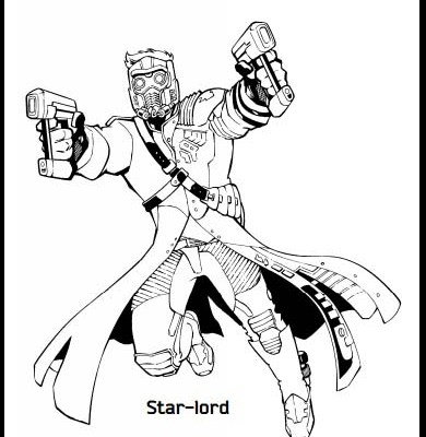 Guardians of the Galaxy Coloring Pages {and activity kit}