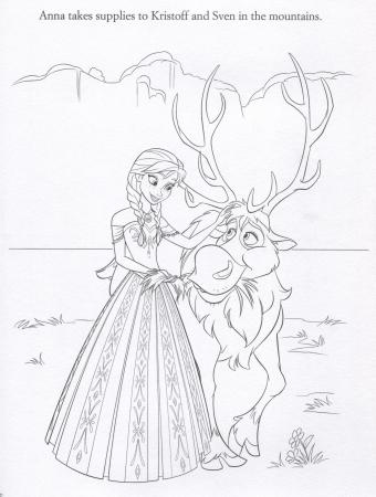 FROZEN Anna & Sven Coloing Page