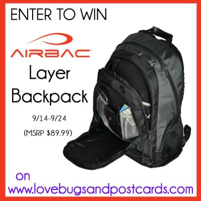 GIVEAWAY: Enter to win an AIRBAC Layer Backpack! (ends 9/24)