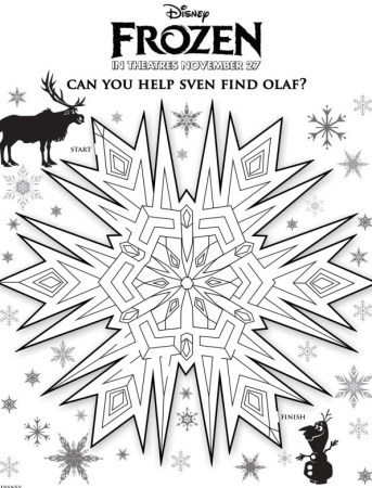 Snowflake Maze with Olaf