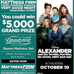 Disney's Alexander and the Terrible, Horrible, No Good, #VeryBadDay Sleepstakes! Win a $5,000 Mattress Set!