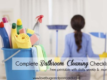Printable Complete Bathroom Cleaning Checklist