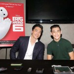 Ryan Potter (Hiro) and Daniel Henney (Tadashi) for Big Hero 6. Copyright Disney 2015.