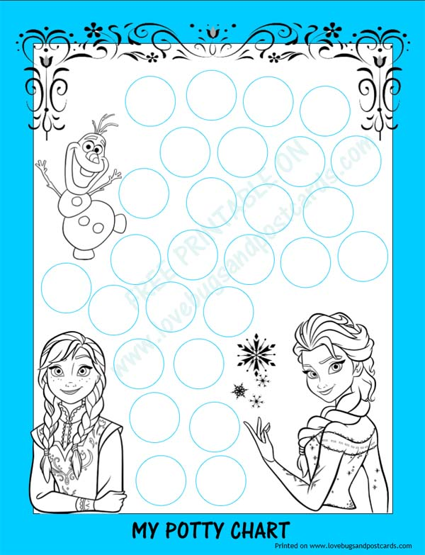 photo relating to Printable Potty Sticker Chart titled FROZEN Potty Chart Totally free Printable + Potty Performing exercises Recommendations