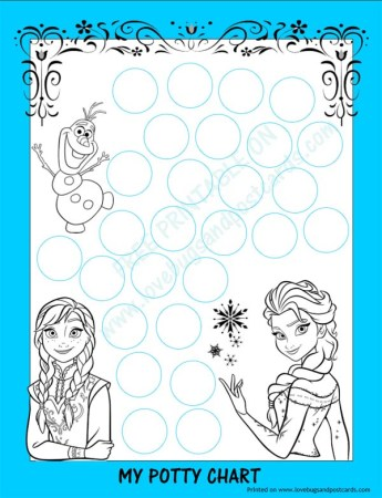 FROZEN Potty Chart {Free Printable} + Potty Training Tips