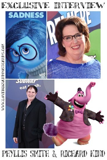 *EXCLUSIVE* Phyllis Smith & Richard Kind Inside Out Interview #InsideOutBloggers
