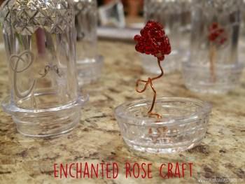 DIY Enchanted Rose in a Jar craft