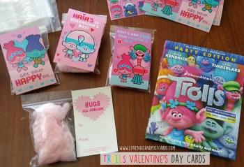 TROLLS Valentine's Day Cards