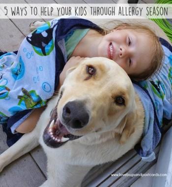 5 ways to help your kids through allergy season