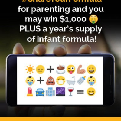 Enter the Share Your Formula sweepstakes + $25 Gift Card Giveaway