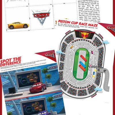 Disney-Pixar Cars 3 Activity Sheets