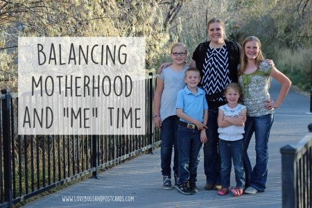 "Balancing motherhood and ""me"" time"