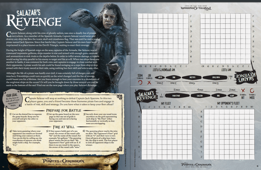 Pirates of the Caribbean: Dead Men Tell No Tales Activity Packet