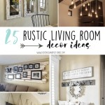 25 Rustic Living Room Decor Ideas Lovebugs And Postcards