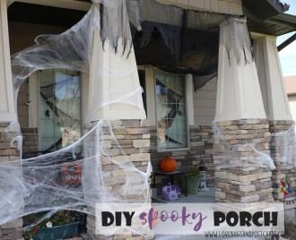 DIY Spooky Front Porch Halloween Decorations