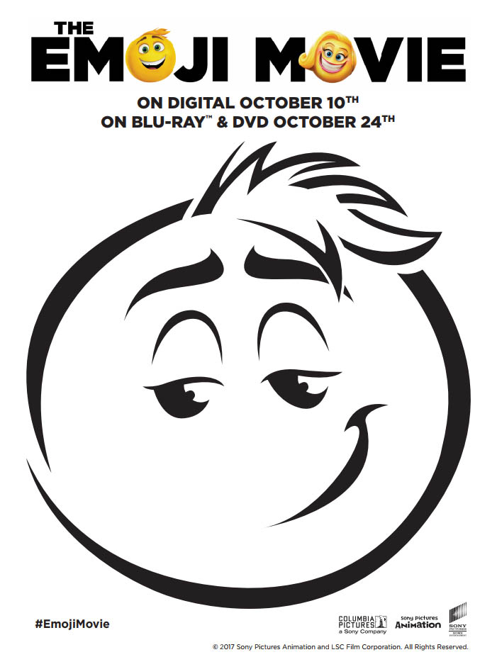 Meh Emoji Pumpkin Stencil