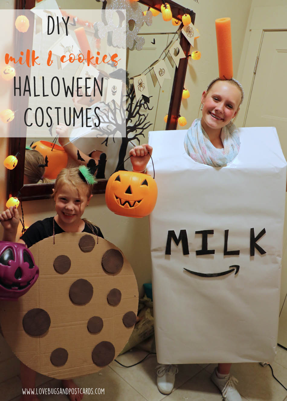 DIY Milk and Cookies costume made with boxes  sc 1 st  Lovebugs and Postcards & DIY Milk and Cookies costume made with boxes - Lovebugs and Postcards