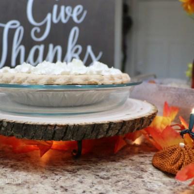 DIY Wood Cake Stand & Thanksgiving Decor Ideas