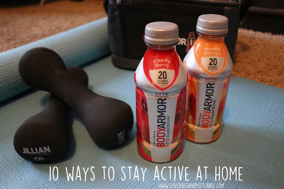 10 ways to stay active at home