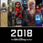 2018 release schedule from Walt Disney Studios Motion Pictures