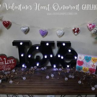DIY Valentine's Heart Ornament Garland