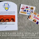 $50 Sonic Drive-In gift card + $200 DonorsChoose gift card GIVEAWAY