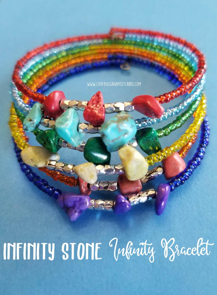 DIY Avengers Infinity Stone Infinity Bracelet - Lovebugs and Postcards